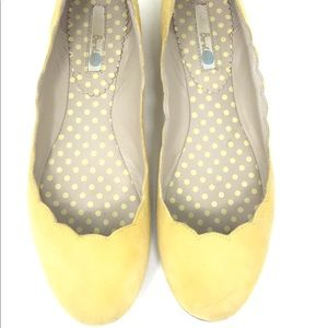 Boden Yellow Scalloped Flats Size 7 US 38 EUR